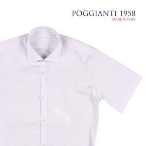 【38】 POGGIANTI 1958 ポジャンティ 1958 半袖シャツ メンズ 春夏 水玉 ホワイト 白 並行輸入品 カジュアルシャツ|utsubostock