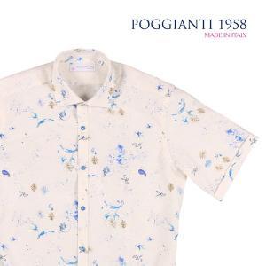 【38】 POGGIANTI 1958 ポジャンティ 1958 半袖シャツ メンズ 春夏 ホワイト 白 並行輸入品 カジュアルシャツ|utsubostock