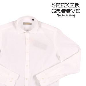【XL】 SEEKER GROOVE シーカーグルーブ 長袖シャツ メンズ 春夏 ストライプ ホワイト 白 並行輸入品 カジュアルシャツ utsubostock