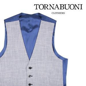 TORNABUONI(トルナブォーニ) ジレ 24013 ホワイト x ネイビー 46 22763 【S22764】|utsubostock