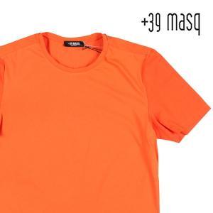 【S】 +39 masq マスク Uネック半袖Tシャツ メンズ 春夏 オレンジ 並行輸入品 トップス|utsubostock