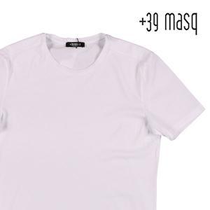 【S】 +39 masq マスク Uネック半袖Tシャツ メンズ 春夏 ホワイト 白 並行輸入品 トップス|utsubostock