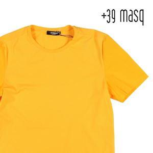【L】 +39 masq マスク Uネック半袖Tシャツ メンズ 春夏 イエロー 黄 並行輸入品 トップス|utsubostock