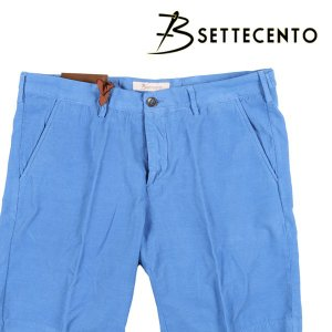 【31】 B SETTECENTO ビーセッテチェント ハーフパンツ メンズ 春夏 ブルー 青 並行輸入品 ズボン utsubostock