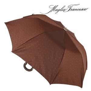 Maglia Francesco マリアフランチェスコ 折畳傘 メンズ 水玉 ブラウン 茶 レザー 並行輸入品|utsubostock