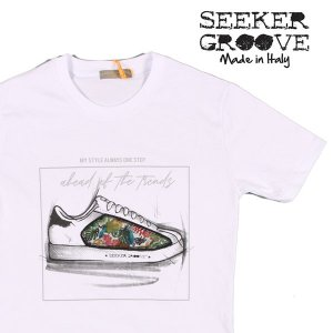 SEEKER GROOVE(シーカーグルーブ) Uネック半袖Tシャツ 3382 ホワイト M 22976wh 【S22982】|utsubostock