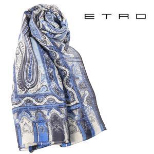 ETRO エトロ ストール メンズ 春夏 シルク混 ペイズリー マルチカラー 並行輸入品|utsubostock