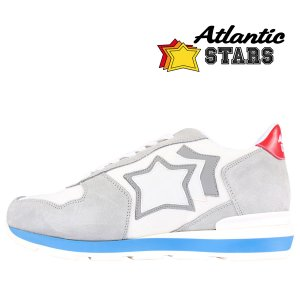 【41】 Atlantic Stars アトランティックスターズ スニーカー ANTARES BAB-34B メンズ 星柄 ホワイト 白 レザー 並行輸入品|utsubostock