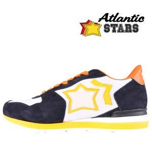 【41】 Atlantic Stars アトランティックスターズ スニーカー ANTARES WBA-36NY メンズ 星柄 ホワイト 白 レザー 並行輸入品 utsubostock