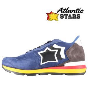 【41】 Atlantic Stars アトランティックスターズ スニーカー ANTARES NN-89B メンズ 星柄 ブルー 青 レザー 並行輸入品 utsubostock