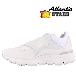 【41】 Atlantic Stars アトランティックスターズ スニーカー POLARIS BG-F24 メンズ 星柄 ホワイト 白 レザー 並行輸入品 utsubostock