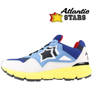 【41】 Atlantic Stars アトランティックスターズ スニーカー POLARIS BNR-F20 メンズ 星柄 ブルー 青 レザー 並行輸入品 utsubostock