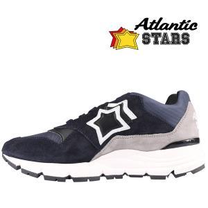 【41】 Atlantic Stars アトランティックスターズ スニーカー POLARIS ADB-F07 メンズ 星柄 ブラック 黒 レザー 並行輸入品 utsubostock