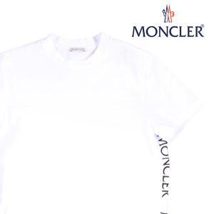 【XL】 MONCLER モンクレール Uネック半袖Tシャツ 8C720 10 8390T 1 メンズ ホワイト 白 並行輸入品 トップス 大きいサイズ|utsubostock