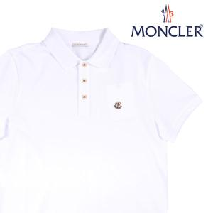 【L】 MONCLER モンクレール 半袖ポロシャツ MANICA C メンズ 春夏 ホワイト 白 並行輸入品 トップス|utsubostock