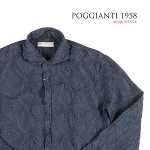 POGGIANTI 1958(ポジャンティ 1958) 長袖シャツ PISA ネイビー 40 23212nv 【A23214】|utsubostock