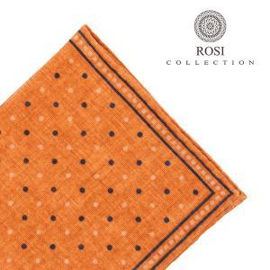 ROSI COLLECTION(ロージコレクション) ポケットチーフ VELVET オレンジ ONESIZE 【W23348】 utsubostock