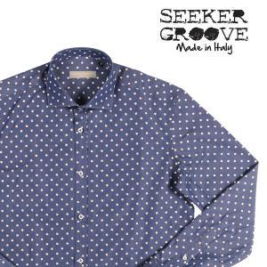 SEEKER GROOVE(シーカーグルーブ) 長袖シャツ 442/R ネイビー S 23371 【A23371】|utsubostock