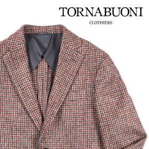 Tornabuoni(トルナブォーニ) ジャケット 25229 ベージュ x オレンジ 46 23470or 【W23478】 utsubostock