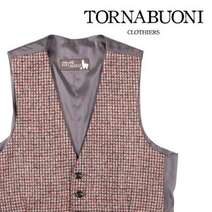 Tornabuoni(トルナブォーニ) ジレ 25229 ベージュ x オレンジ 58 23499or 【W23514】|utsubostock