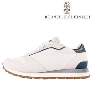 BRUNELLO CUCINELLI(ブルネロクチネリ) スニーカー CU508 ホワイト x ネイビー 44 【A23590】|utsubostock