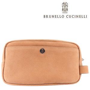 BRUNELLO CUCINELLI ブルネロクチネリ ポーチ C6574 メンズ レザー ブラウン 茶 レザー 並行輸入品|utsubostock