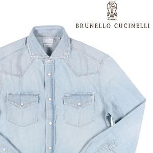 BRUNELLO CUCINELLI(ブルネロクチネリ) デニムシャツ C4065 ブルー M 【A23625】 utsubostock