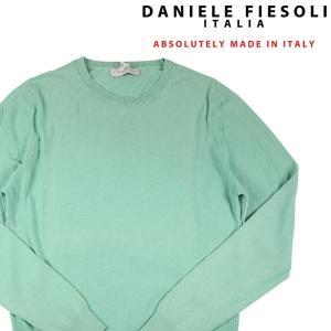 DANIELE FIESOLI 丸首セーター メンズ 春夏 XXL/52 グリーン 緑 ダニエレフィエゾーリ 大きいサイズ 並行輸入品|utsubostock