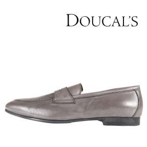 DOUCAL'S(デュカルス) ローファー NAPPA グレー 43 【A24387】|utsubostock