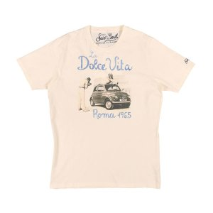 Saint Barth(セントバース) Uネック半袖Tシャツ TSHM001 DLRM11 アイボリー XL 24787 【S24788】|utsubostock