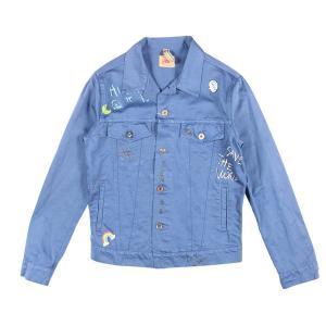 BOB(ボブ) ブルゾン LOST633 ブルー x マルチカラー 50 24952bl 【S24953】|utsubostock