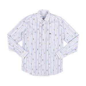 ETRO(エトロ) 長袖シャツ 1K526 5260 ホワイト x ブルー 44 25059 【A25063】|utsubostock