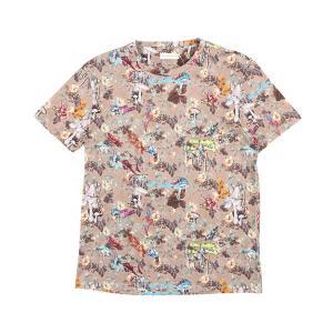 ETRO(エトロ) Uネック半袖Tシャツ 1Y020 ベージュ x マルチカラー XL 25207be 【S25208】 utsubostock