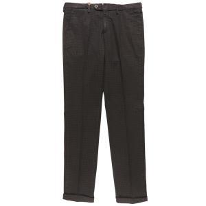 B SETTECENTO(ビーセッテチェント) パンツ MH713-9544 ブラック x ブラック 35 25651bk 【A25667】|utsubostock