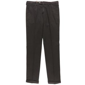 B SETTECENTO(ビーセッテチェント) パンツ MH713-9544 ブラック x ブラック 40 25651bk 【A25670】|utsubostock