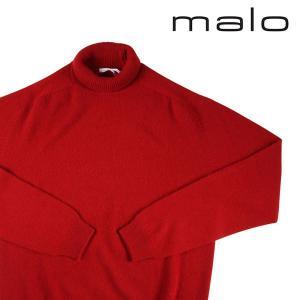 MALO タートルネックセーター メンズ 秋冬 52/2XL レッド 赤 カシミヤ100% マーロ 大きいサイズ 並行輸入品 utsubostock