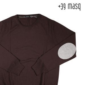 +39 masq 丸首セーター メンズ 秋冬 M/46 ブラウン 茶 マスク 並行輸入品|utsubostock