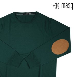 +39 masq 丸首セーター メンズ 秋冬 S/44 グリーン 緑 マスク 並行輸入品|utsubostock