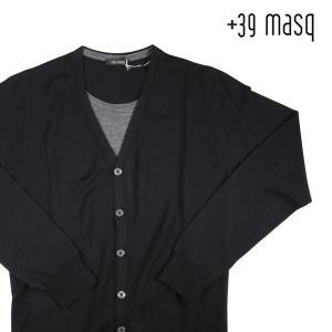 【L】 +39 masq マスク カーディガン メンズ 秋冬 ブラック 黒 並行輸入品 ニット|utsubostock