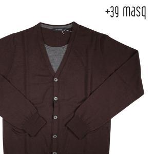【L】 +39 masq マスク カーディガン メンズ 秋冬 ブラウン 茶 並行輸入品 ニット|utsubostock