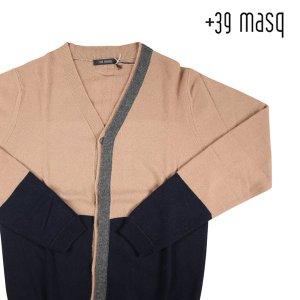 【XL】 +39 masq マスク カーディガン メンズ 秋冬 カシミヤ混 ベージュ 並行輸入品 ニット 【アウトレット】|utsubostock