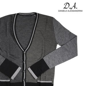 DANIELE ALESSANDRINI カーディガン メンズ 秋冬 50/XL グレー 灰色 ダニエレアレッサンドリーニ 並行輸入品|utsubostock
