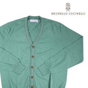 BRUNELLO CUCINELLI カーディガン メンズ 52/2XL グリーン 緑 M2980506 ブルネロクチネリ 大きいサイズ 並行輸入品|utsubostock
