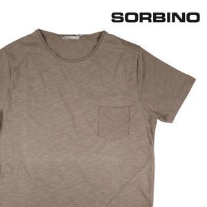 【S】 SORBINO ソルビーノ Uネック半袖Tシャツ メンズ 春夏 カーキ 並行輸入品 トップス|utsubostock