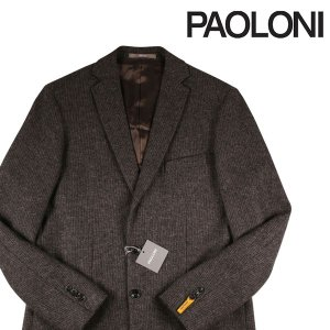PAOLONI コート メンズ 秋冬 52/2XL ブラウン 茶 パオローニ 大きいサイズ 並行輸入品|utsubostock