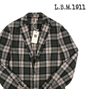 【46】 L.B.M.1911 エルビーエム ジャケット 35055/2 メンズ 秋冬 グレンチェック グリーン 緑 並行輸入品 アウター トップス|utsubostock