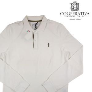 Cooperative Pescatori 長袖ポロシャツ メンズ M/46 ホワイト 白 コーペラティーヴァ ペスカトーリ ポジリポ 並行輸入品|utsubostock