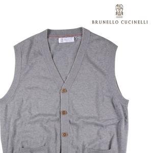 BRUNELLO CUCINELLI ベスト メンズ 50/XL グレー 灰色 M2929017 ブルネロクチネリ 並行輸入品|utsubostock