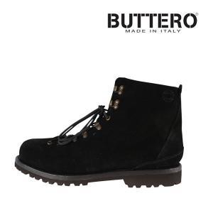 Buttero ブーツ メンズ 41/25.5cm ブラック 黒 レザー B4382 ブッテロ 並行輸入品|utsubostock