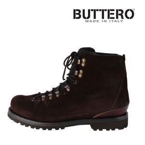 Buttero ブーツ メンズ 43.5/28.0cm ブラウン 茶 レザー B4383 ブッテロ 大きいサイズ 並行輸入品|utsubostock
